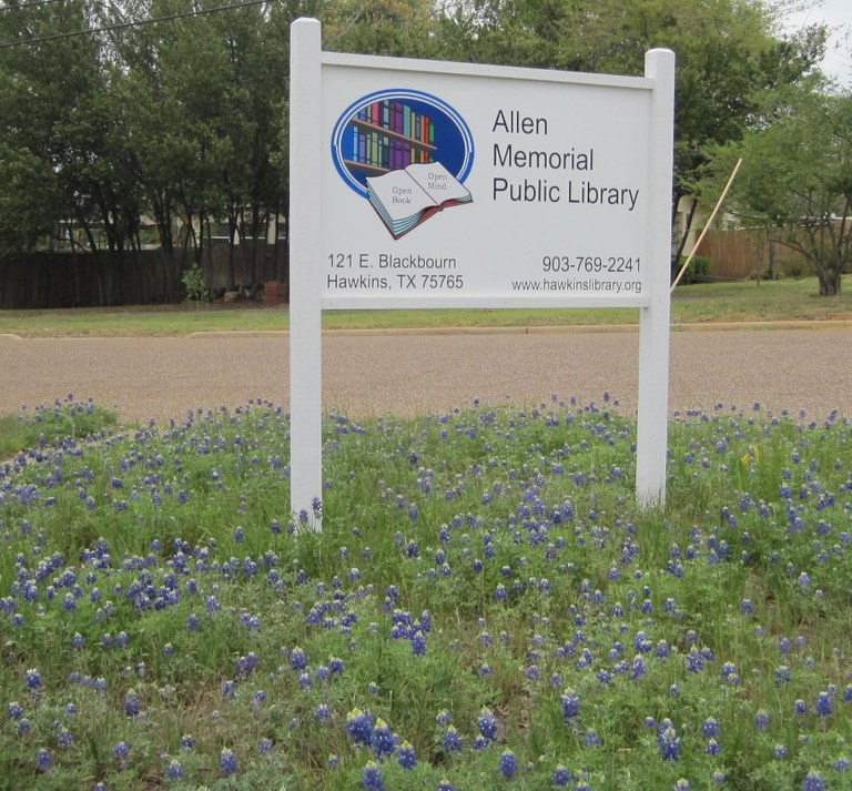 Sign With Bluebonnets